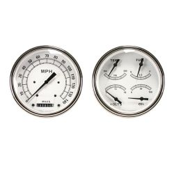Classic White Series Gauge Sets